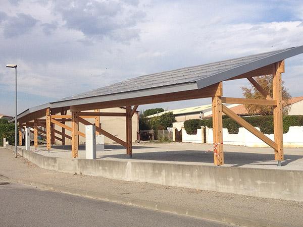 SYADEN - Ombrière photovoltaïque à Alzonne